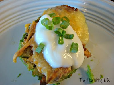 Loaded Baked Avocado (a great alternative to a baked potato). We made this tonight and we loved it!