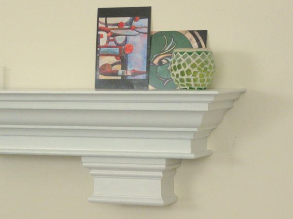 72 White Fireplace Mantle Shelf with Crown by TheMantelShoppe, $269.00