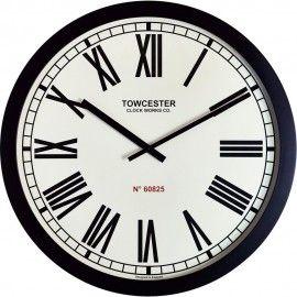 Templeton Xl Station Wall Clock 90cm - Modern, Roman Numerals, Black Large Wall Clock