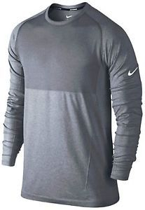 NIKE DRI-FIT KNIT LONG SLEEVE MENS RUNNING SHIRT WAS $80 #exclusive #f