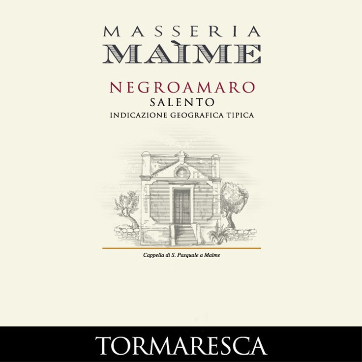 Tormaresca delivers a beautiful expression of Negroamaro. Quality aromas of blackberry and cherry liqueur emerge on the bouquet, and oak-driven tones of almond and chocolate follow through on the finish. It's soft, plush and bold.