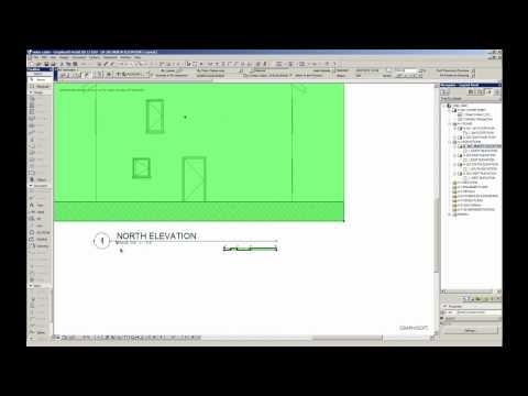 Adjusting ArchiCAD Elevations - YouTube