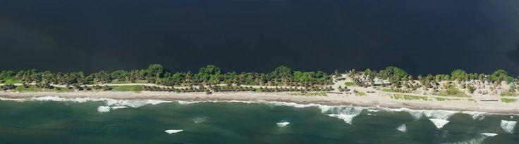 Comunidad garifuna de Miami en las costas del puerto de Tela