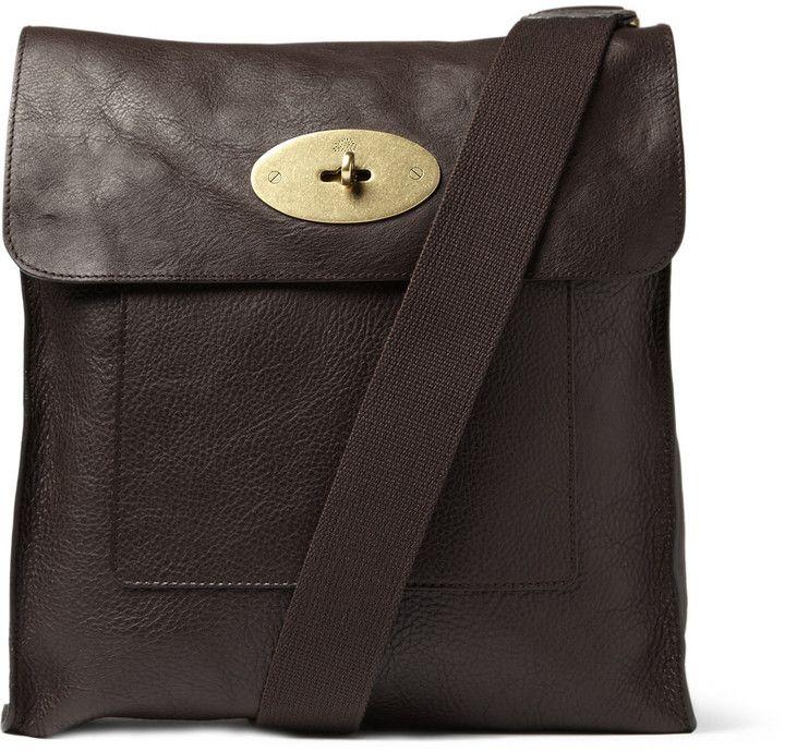$1,040, Dark Brown Leather Messenger Bag: Mulberry Antony Leather Messenger Bag. Sold by MR PORTER. Click for more info: https://lookastic.com/men/shop_items/25631/redirect