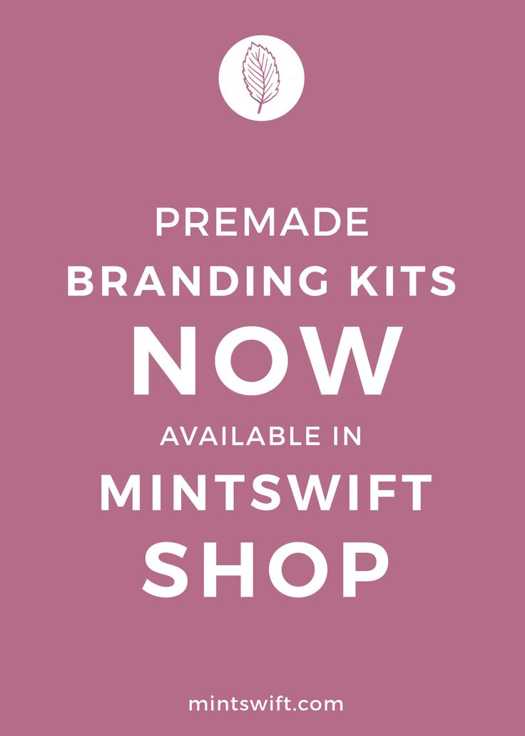 Premade Branding Kits Now Available in MintSwift Shop