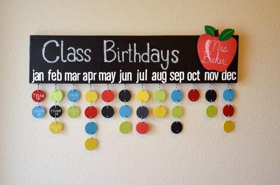 Teacher Gift Chalkboard Class Birthday by DesignsByLissaLou