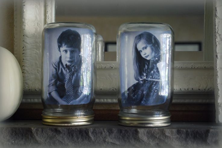 Jars: Ideas, Jar Picture, Photo Display, Canning Jars, Display Idea, Pictures, Picture Frames, Family Photo
