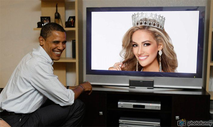 MISS TEXAS USA 2016 DANIELLA RODRIGUEZ AND BARACK OBAMA