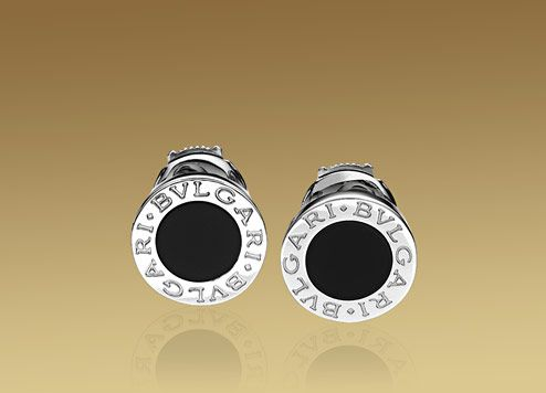 BVLGARI BVLGARI earrings in 18kt white gold with black onyx. PRICE:  $1,750.00 (14/03/2013)