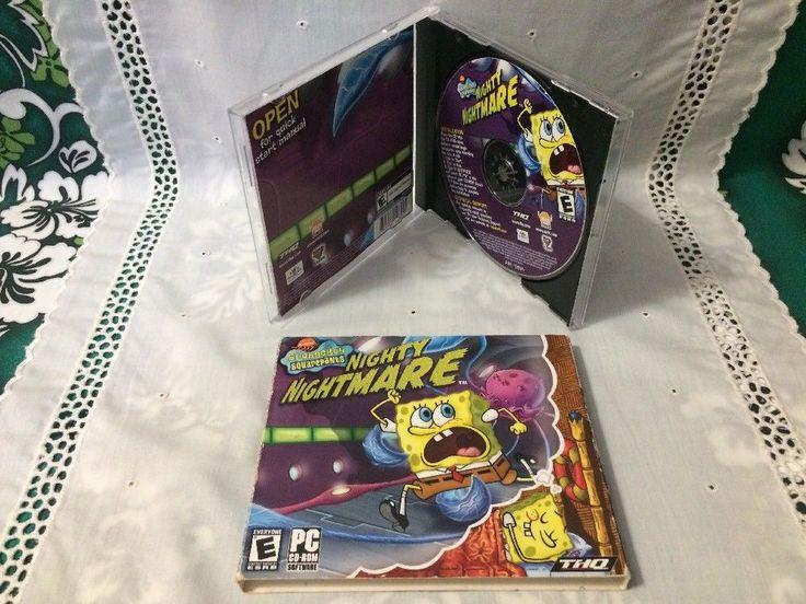 SpongeBob SquarePants: Nighty Nightmare (PC, 2006) Windows 98/Me/2000/XP CD**