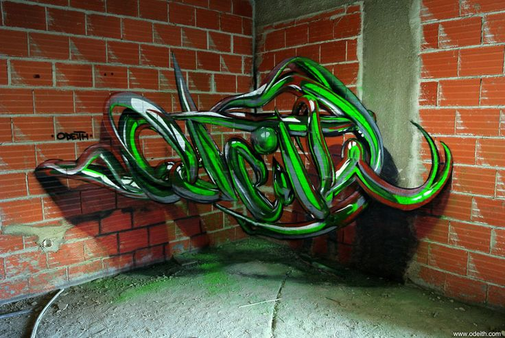 Artist Odeith Creates Incredible D Graffiti Illusions Graffiti - Incredible forced perspective graffiti artist odeith