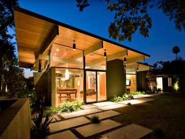 Quince Reverse Shed Eichler midcentury-exterior