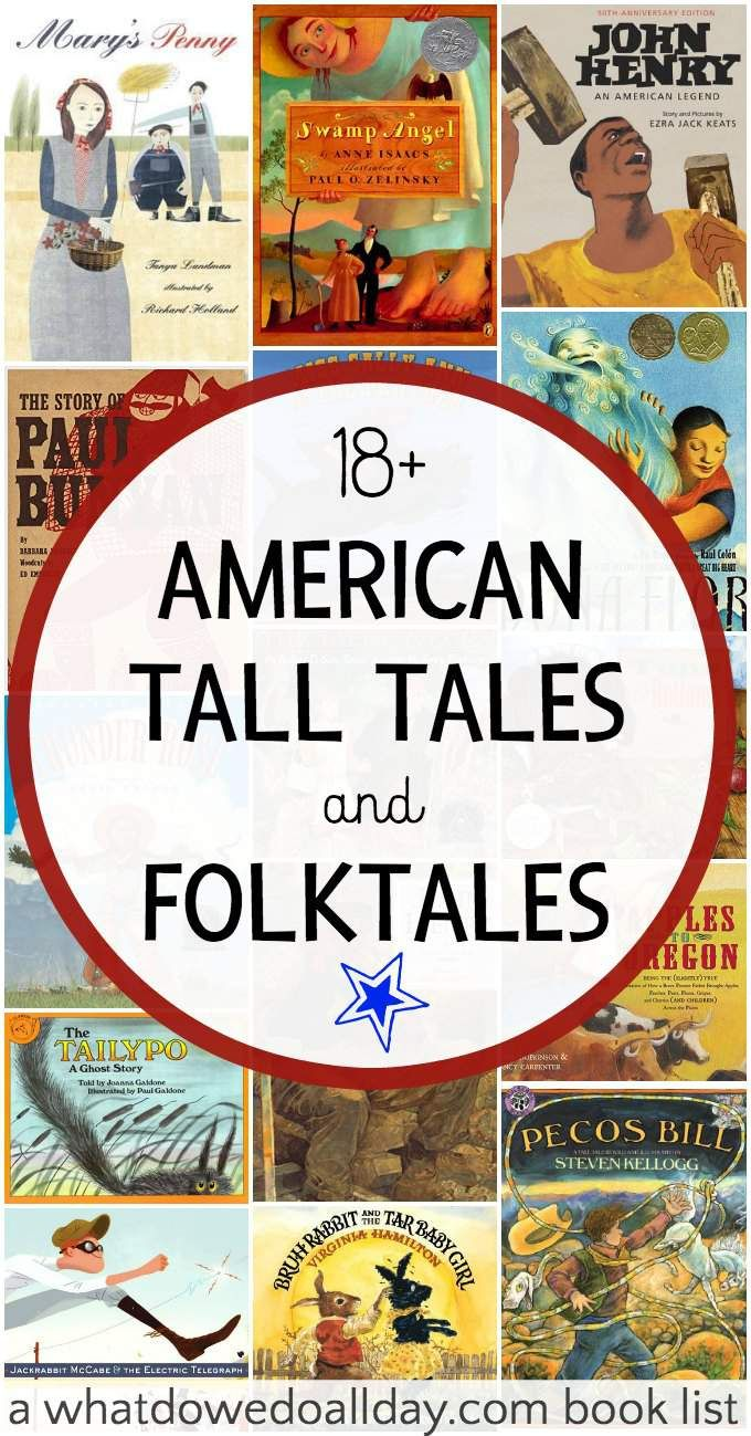 Diverse books for kids. Picture books of American folktales and tall tales. Good variety from @momandkiddo