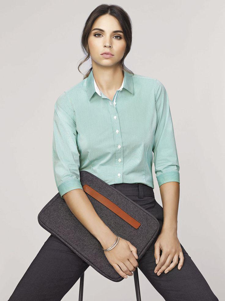 Fifth Avenue 3/4 Sleeve Shirt #bizcorporates #boulevard #fifthavenue #stripedshirt