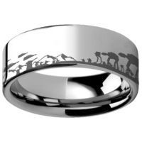 Star Wars wedding band, star wars wedding, geek wedding rings