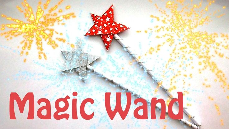 How to make a magic Wand (Origami magic Wand) - Christmas Crafts