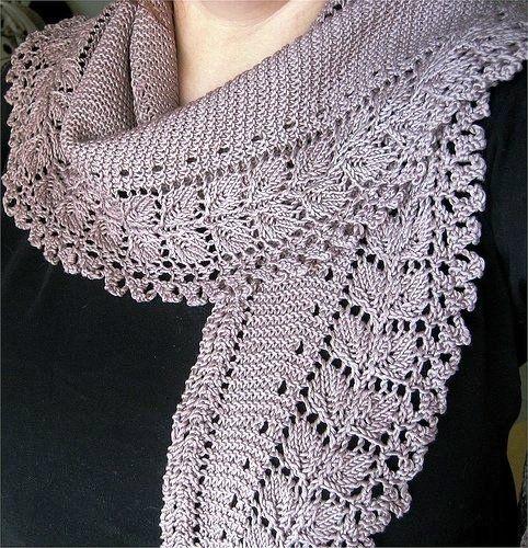10 Stylish Free Knitting Scarf Patterns 3