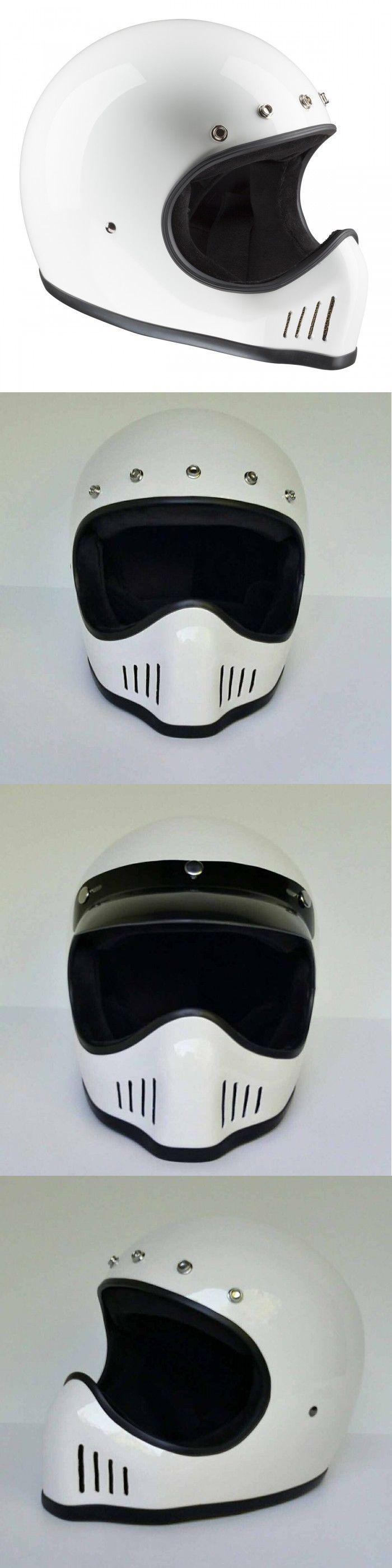 Helmet Accessories 177865: Bandit Historic Mx Motorcycle Helmet Cross Supermoto Hill Climbing Fibreglass BUY IT NOW ONLY: $208.3
