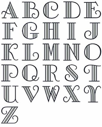 Deco Monogram Font, Alphabet