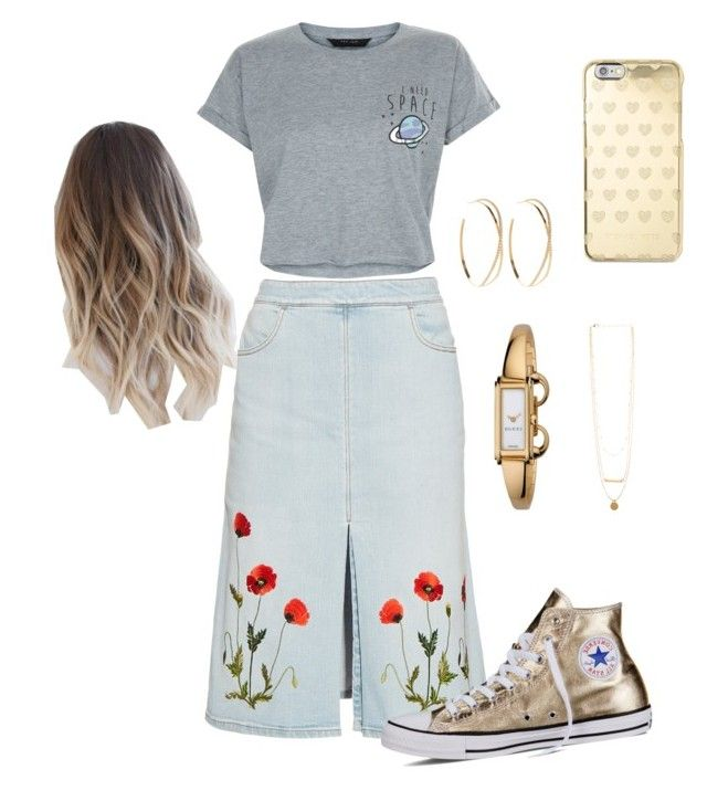 """""""Untitled #14"""" by lovableln on Polyvore featuring Lana, STELLA McCARTNEY, New Look, Converse, Michael Kors and Gucci"""