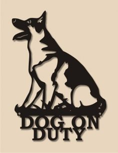 wrought iron german shepherd silhouette welcome sign - Google Search