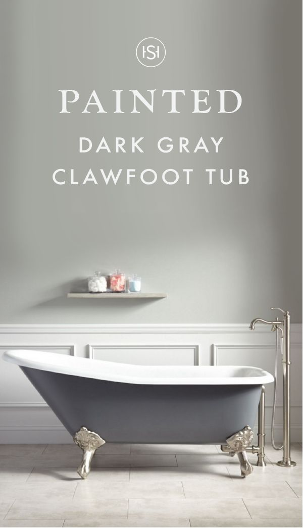 """This 66"""" Goodwin Cast Iron Clawfoot Tub with Imperial Feet and a dark gray finish is one-part modern and one-part elegant—making up the perfect style equation! Add this classic soaker to a bathroom renovation to makeover the look and feel of your master suite."""