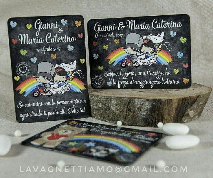 """Le partecipazioni magnetiche ci hanno entusiasmati da subito! L'idea ci è venuta pensando alle povere partecipazioni delle cerimonie a cui abbiamo partecipato, che stanno stipate nei cassetti...nella migliore delle ipotesi! Nessuno avrà il coraggio di cestinare o """"incassettare"""" gli inviti magnetici che personalizziamo per voi!!! #lavagnettiamo #lavagnettiamo@gmail.com #chalkboardart #art #chalkboard #lavagna #lavagnettepersonalizzate #lavagnetta #partecipazionimagnetiche #instawed #sposi…"""