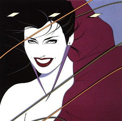 Patrick Nagel. Great 80s illustrator who was widely popular. You still see some of his images in nail and hair salons.