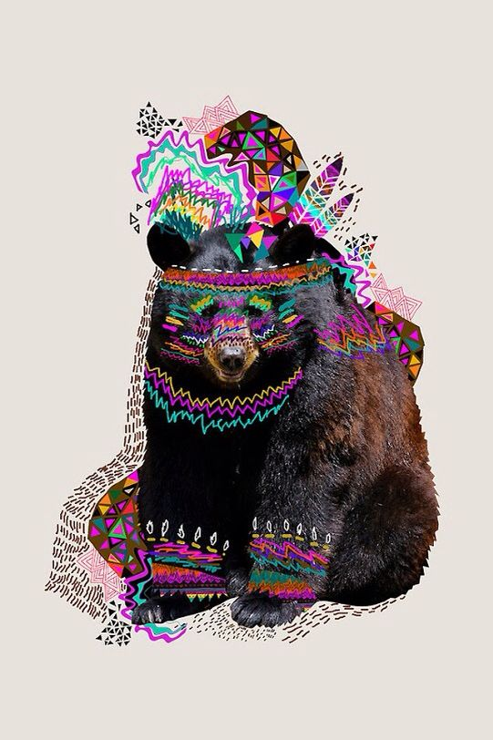 Bear background with neat design so cool:)