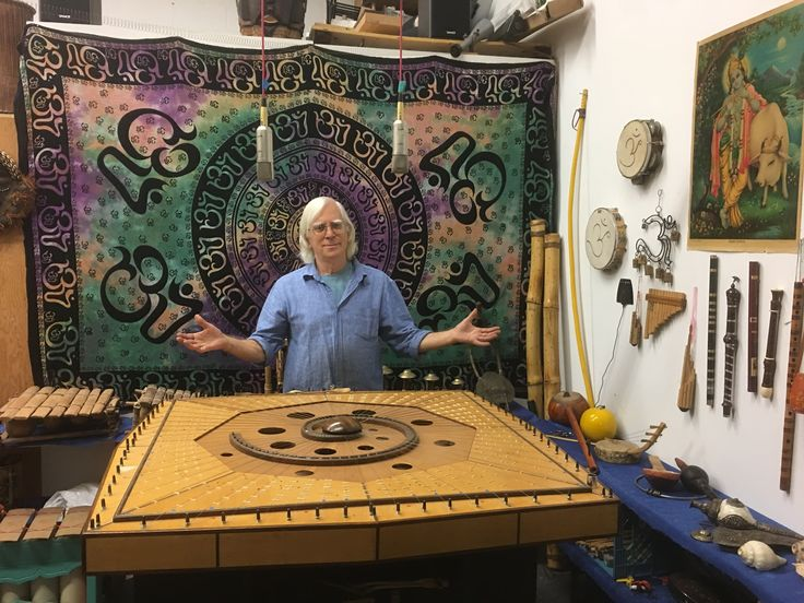Robin Armstrong and the Celestial Harp at new studio location in Toronto.