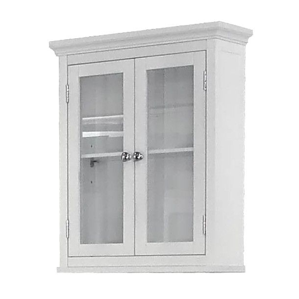 madison avenue wall cabinet white