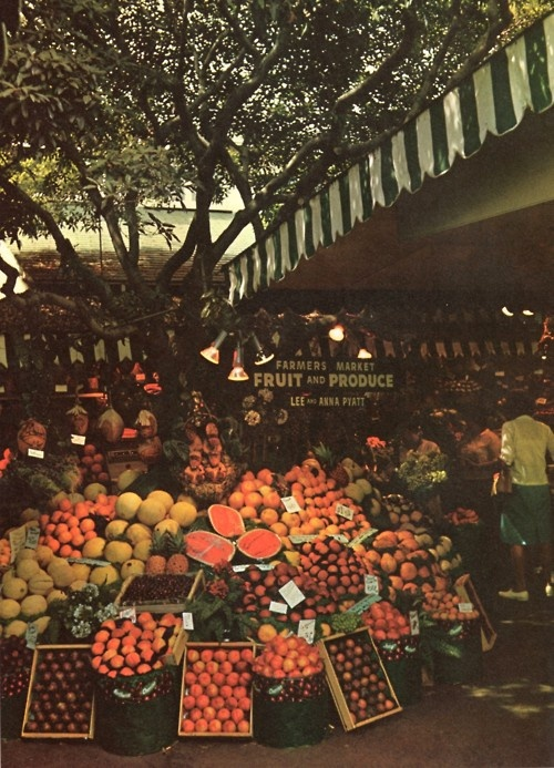 Farmers Market in Los Angeles, 1968