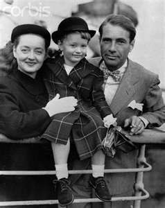 Actress Bette Davis Posing With Husband and Young Daughter ...