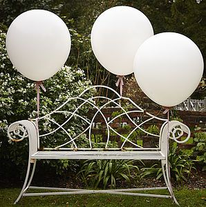 White 36 Inch Feature Party Balloons SORRY I LOVE THE BENCH