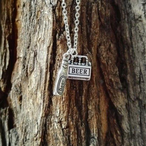 Flaschenbier Halskette und Sixpack.Eine ausgefallene Geschenkidee für Bier-Fans!