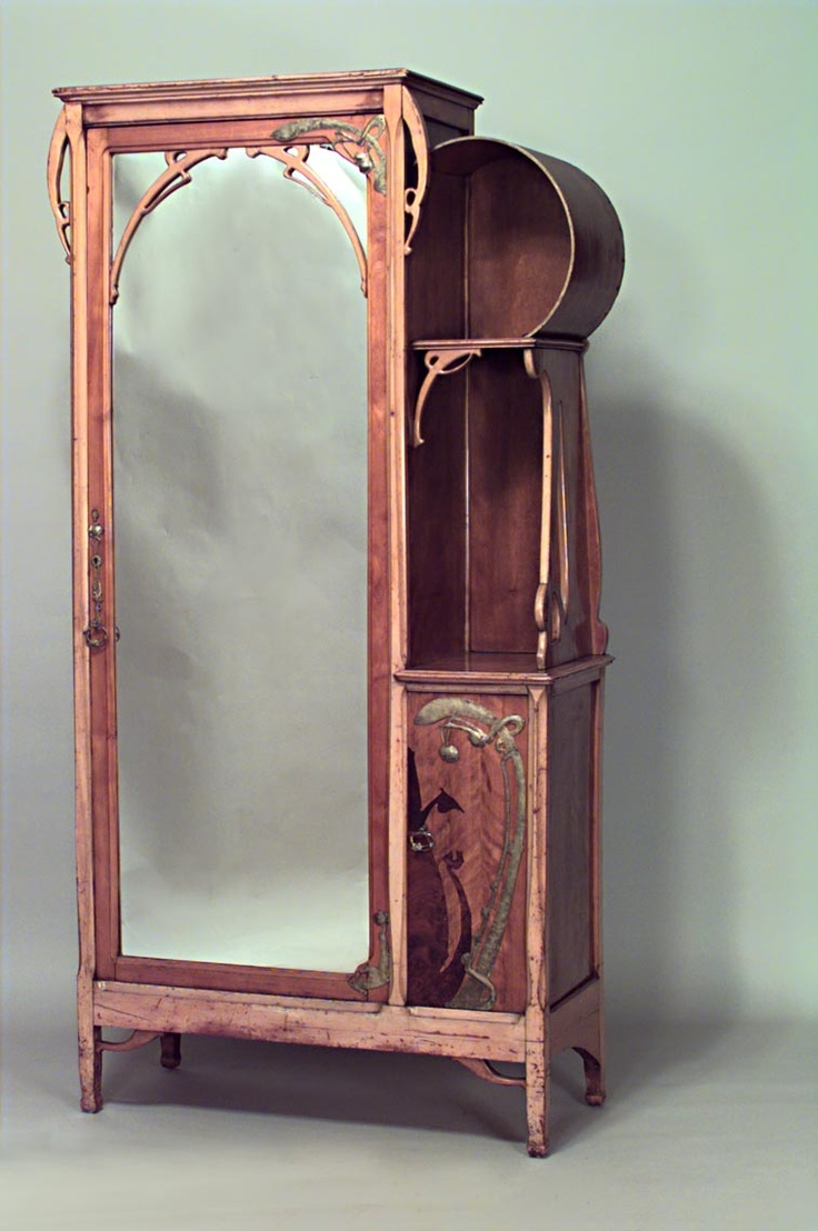 art nouveau armoire home furniture need want like pinterest. Black Bedroom Furniture Sets. Home Design Ideas