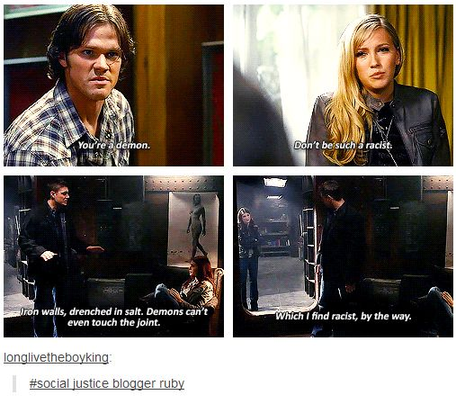 (gif set) Social Justice Blogger Ruby -- *snort* I still love her. I mean, as a villain, obviously.