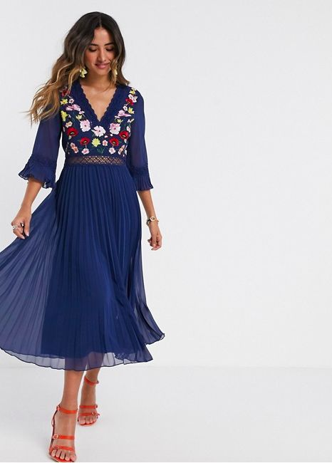 and a gorgeous embroidered midi dress sure to break sew many