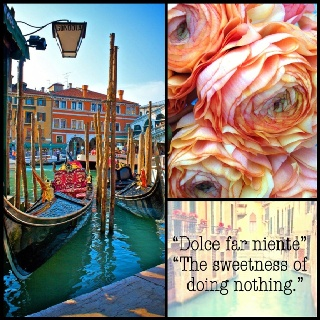 """My favorite Italian saying, """"Dolce far niente"""" - """"The sweetness of doing nothing.""""  LIKE if it's one of your favorites too!  #Italy #Venice #Quotes"""