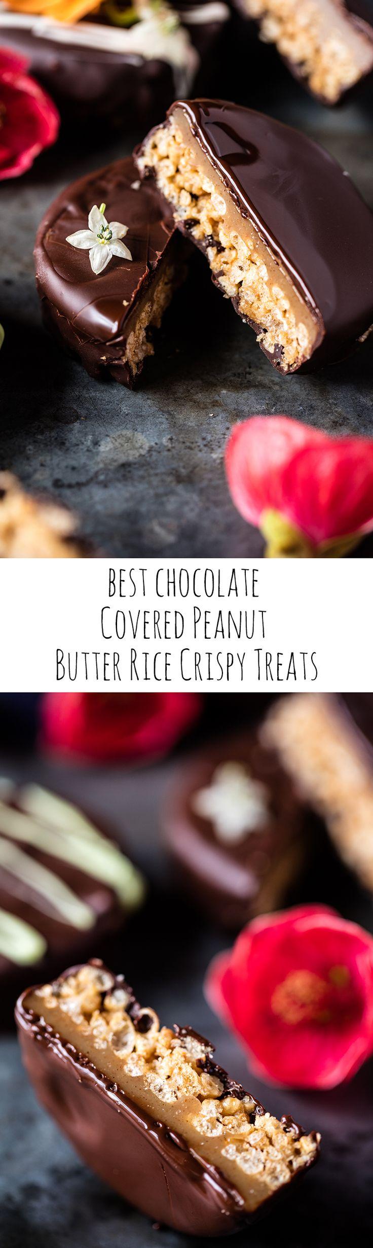 Best Chocolate Covered Peanut Butter Rice Crispy Treats   halfbakedharvest.com @hbharvest