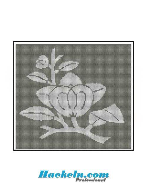 Häkeln Filethäkelvorlage Asia Lotus Anleitung Filethäkeln