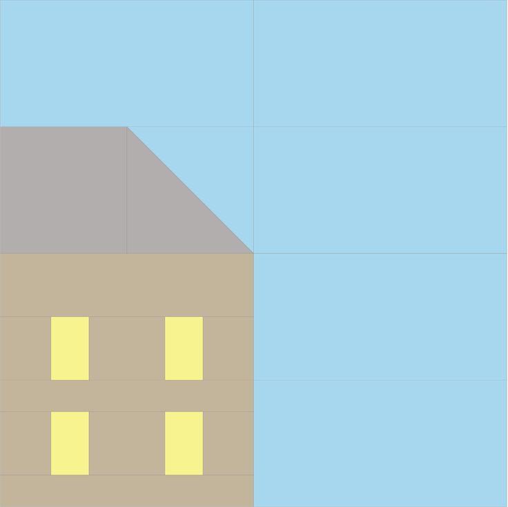 Pretty Little Quilts: Hillside Houses Block 12