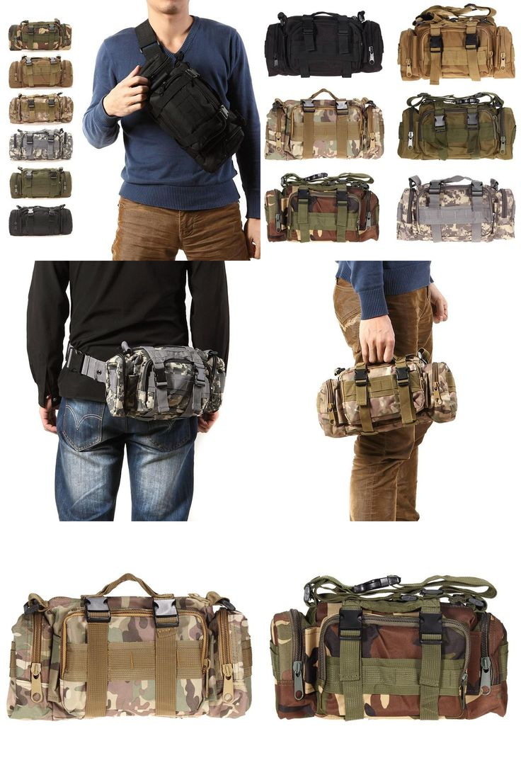[Visit to Buy] 3L Waterproof Military Tactical Waist Bag Outdoor Pack Oxford Molle Camping Pouch Wallet Backpack Waist Bags mochila militar #Advertisement
