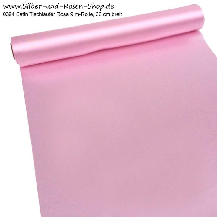 Satin Tischband rosa Rolle