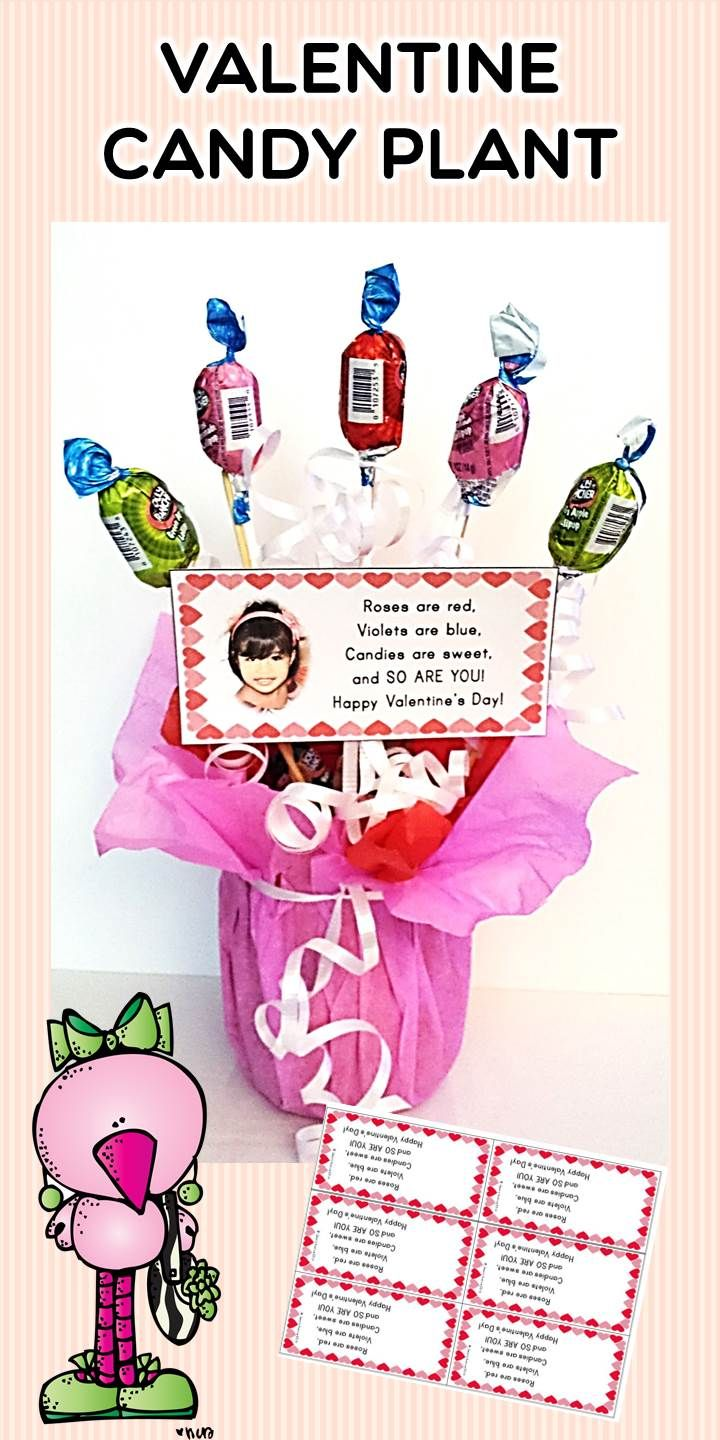 Valentine Candy Plant Craftivity and Short Poem: Sweet, easy and cute! This item is part of my Valentine Day's unit. Check it out! #ValentinesDay, #ValentinesDayELA, #ValentinesDayLiteracy, #ValentinesDayActivities, #ValentinesDayLiteracyCenter, #ValentinesDayprintable, #ValentinesDayIdeas