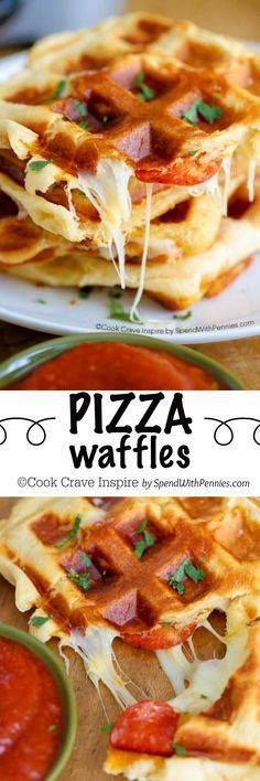 PIZZA WAFFLES with j PIZZA WAFFLES with just 3 ingredients!...  PIZZA WAFFLES with j PIZZA WAFFLES with just 3 ingredients! These yummy waffles take just a few minutes to make and are easy cheesy and crazy good! Recipe : http://ift.tt/1hGiZgA And @ItsNutella  http://ift.tt/2v8iUYW
