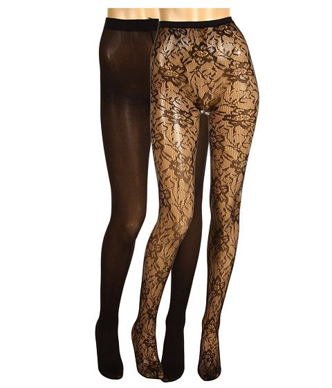 Betsey Johnson 2 Pack Lilypad Net Solid Tight
