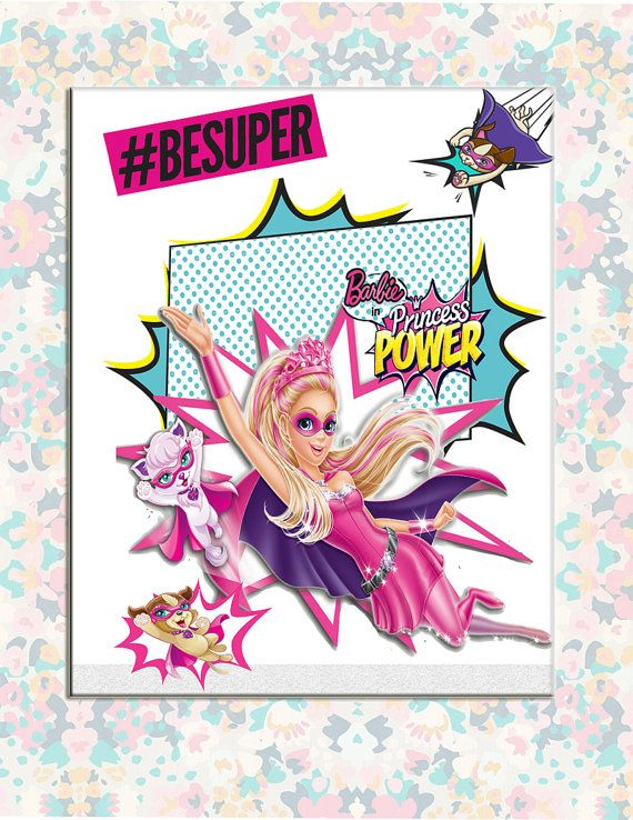 Barbie Princess Power Party Favor Mini Coloring By CrafterHappy