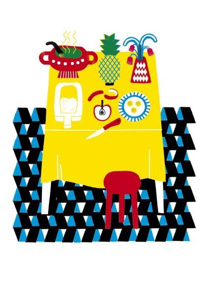 Still Life Print by Planeta Tangerina #illustration