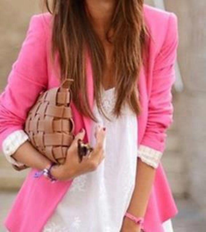 Blazer novo sem etiqueta, rosa choque, comprado online imitação perfeita dos blazers da zara.
